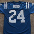 LENNY MOORE Baltimore Colts Jersey XL Authentic Stitched AUTO Penn State w/ COA