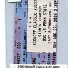 Penn State Nittany Lions vs. USC Trojans - Kick-Off Classic - TICKET STUB B - August 27, 2000