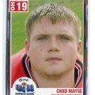CHAD MAYSE 2004 Big 33 High School card WEST VIRGINIA Mountaineers