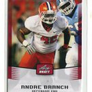 ANDRE BRANCH 2012 Leaf Draft #3 ROOKIE Clemson Tigers JAGUARS DE