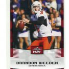 BRANDON WEEDEN 2012 Leaf Draft #6 ROOKIE Oklahoma State Cowboys BROWNS QB