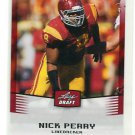 NICK PERRY 2012 Leaf Draft #38 ROOKIE Southern Cal USC Trojans Green Bay GB Packers LB / DE
