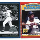 PW) ROBERTO CLEMENTE 2001 Topps & Upper Deck UD Lot Pittsburgh Pirates