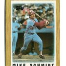 MIKE SCHMIDT 1987 Topps Mini #30 Philadelphia Phillies