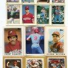 (10) Philadelphia Phillies 1986-87 Topps MINI & STICKER Lot Commons - NO DUPES