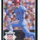 MIKE SCHMIDT 1986 Donruss All-Star JUMBO #17 Philadelphia Phillies