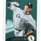 PHILLIP PHIL HUMBER 2011 Topps Update Series #US196 Chicago White Sox PERFECT GAME