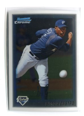 SIMON CASTRO 2010 Bowman Chrome Prospects #BCP215 ROOKIE San Diego SD Padres
