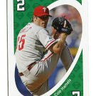 COLE HAMELS 2010 Uno Card Game GREEN-2 Philadelphia Phillies