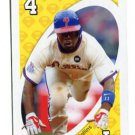 JIMMY ROLLINS 2010 Uno Card Game YELLOW-4 Philadelphia Phillies