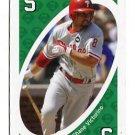 SHANE VICTORINO 2010 Uno Card Game GREEN-5 Philadelphia Phillies HAWAII