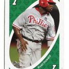 RYAN HOWARD 2010 Uno Card Game GREEN-7 Philadelphia Phillies