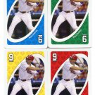 (4) RAUL IBANEZ 2010 Uno Card Game CARD 9 all color PHILLIES New York NY Yankees