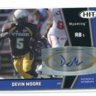 DEVIN MOORE 2009 Sage Hit AUTO #A50 Rookie WYOMING