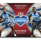 QUINTON COPLES / MELVIN INGRAM 2012 Bowman Combine INSERT ROOKIE North & South Carolina