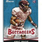 ERIC PAGE 2012 Bowman #141 ROOKIE Toledo TAMPA BAY Bucs TB Buccaneers