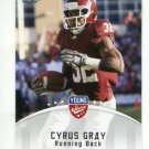 CYRUS GRAY 2012 Leaf Young Stars #24 ROOKIE Texas A&M Aggies KC CHIEFS RB