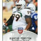 MARCUS FORSTON 2012 Leaf Young Stars #57 ROOKIE Miami Canes Hurricanes PATRIOTS