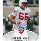 PETER KONZ 2012 Leaf Young Stars #71 ROOKIE Wisconsin Badgers FALCONS