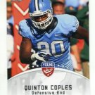 QUINTON COPLES 2012 Leaf Young Stars #72 ROOKIE North Carolina Tar Heel NY JETS