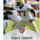 ZEBRIE SANDERS 2012 Leaf Young Stars #91 ROOKIE Florida State Seminoles BILLS OT