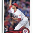 MICHAEL STUTES 2011 Topps Update Series #US117 ROOKIE Philadelphia Phillies