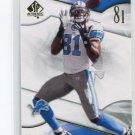 CALVIN JOHNSON 2009 SP Authentic #58 Detroit Lions GEORGIA TECH