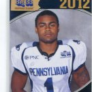 DESMON PEOPLES 2012 Big 33 PA High School card RUTGERS