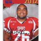 MIKE BROWN 2012 Big 33 OH High School Facsimile AUTO card EASTERN MICHIGAN DT