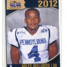 MILES WILLIAMS 2012 Big 33 PA High School card BLOOMSBURG Bishop McDevitt HS