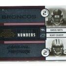 DARIUS WATTS / KEARY COLBERT 2004 Playoff Contenders ROOKIE INSERT #RN-8 Broncos Panthers #d/250