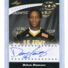 DELVON SIMMONS 2011 Leaf Army All-American TOUR AUTO Texas Tech
