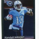 KENDALL WRIGHT 2012 Panini Sticker FOIL #456 ROOKIE Titans BAYLOR