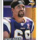 JARED ALLEN 2012 Panini Sticker #329 Minnesota Vikings