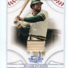 REGGIE JACKSON 2008 Donruss Threads BAT CARD #36 Oakland A's HOF #d/500