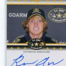 BROOKS ABBOTT 2012 Leaf Army All-American TOUR AUTO Virginia Tech Hokies #d/125