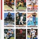 MATT BARKLEY / GABBY DOUGLAS / RONALDO / 9 cards 2012 SI uncut sheet USC QB