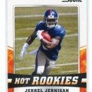 JERREL JERNIGAN 2011 Score Hot Rookies INSERT #15 ROOKIE New York NY Giants