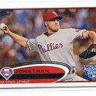 JONATHAN JON PAPELBON 2012 Topps Update Series #US91 Philadelphia Phillies