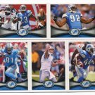 (11) Detroit LIONS 2012 Topps Base TEAM Lot: Matthew Stafford, Suh, Calvin, more