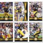 (6) STEELERS 2012 Topps Base TEAM Lot: Heath Miller, Woodley, Brown, Wallace, Mendenhall