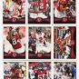 (9) FALCONS 2012 Topps Base TEAM Lot: Matt Ryan, Julio Jones, Roddy White, Asante, +