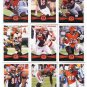 (9) Cincinnati BENGALS 2012 Topps Base TEAM Lot: AJ Green, Dalton, Bengarvis, more