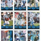 (9) Carolina PANTHERS 2012 Topps Base TEAM Lot: DeAngelo, Tolbert, LaFell, Smith more