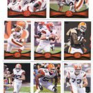 (8) Cleveland BROWNS 2012 Topps Base TEAM Lot: Josh Cribbs, Little, Joe Thomas, more