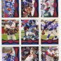 (9) NY GIANTS 2012 Topps Base TEAM Lot: Cruz, Nicks, Tuck, Osi, Pierre-Paul, more