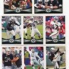 (8) Oakland RAIDERS 2012 Topps Base TEAM Lot: Palmer, McFadden, Janikowski, Lechler, more