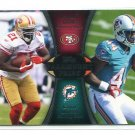 LAMAR MILLER / FRANK GORE 2012 Topps Paramount Pairs INSERT ROOKIE Miami Canes