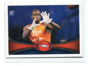 GERELL ROBINSON 2012 Topps #51 ROOKIE Denver Broncos ARIZONA STATE Sundevils