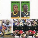 (5) SAINTS 2012 Topps PP, Duos, 1965 Mini INSERTs - Thomas, Graham, Sproles more